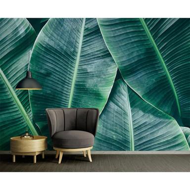 Livingwalls Fototapete Designwalls Banana Leaves Natur