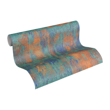 Livingwalls A.S. Création Neue Bude 2.0 in metallischer Rost Optik metallic, blau, grün