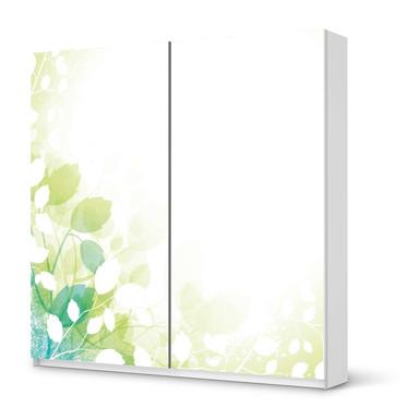 Möbel Klebefolie IKEA Pax Schrank 201cm Höhe - Schiebetür - Flower Light- Bild 1
