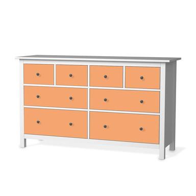 Möbelfolie IKEA Hemnes Kommode 8 Schubladen - Orange Light