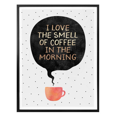 Poster Fredriksson - I love the smell of coffee in the morning