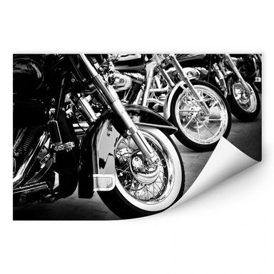 Wallprint Motorcycle Wheels