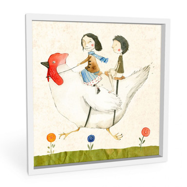 Wandbild Loske - Huhnreise