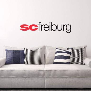 Wandsticker SC Freiburg Schriftzug