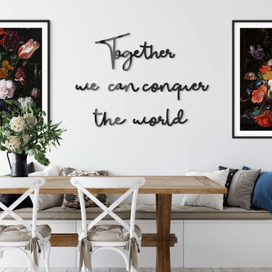 Acrylbuchstaben Together we can conquer the world (6-teilig)