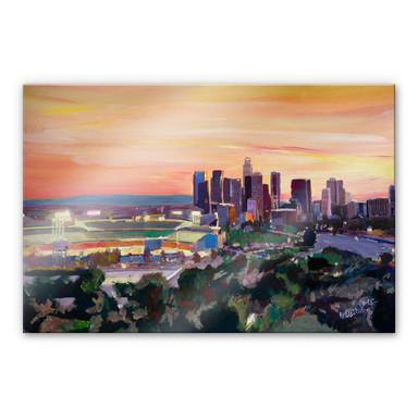 Acrylglasbild Bleichner - LA Skyline