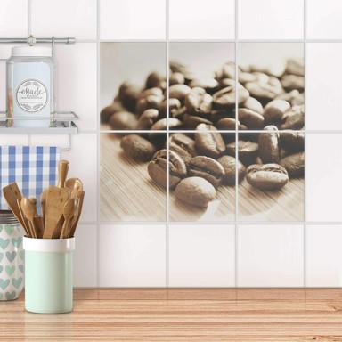 Fliesenaufkleber hoch - Coffee Beans