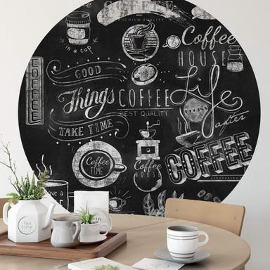 Fototapete World of Coffee - Rund