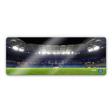 Glasbild HSV Arena Nacht - Panorama