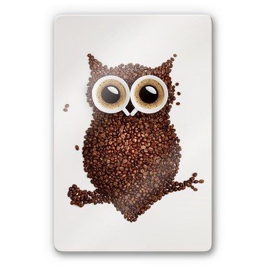 Glasbild Kaffeeeule