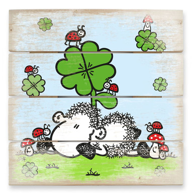 Holzbild sheepworld Glücksschaf