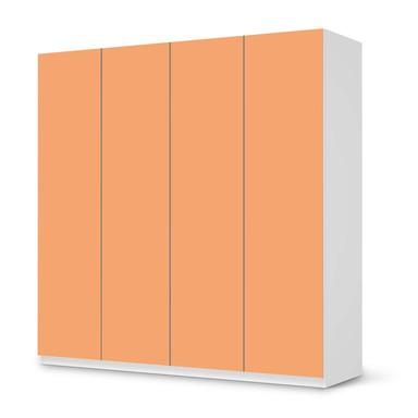 Klebefolie IKEA Pax Schrank 201cm Höhe - 4 Türen - Orange Light- Bild 1