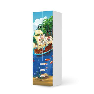 Klebefolie IKEA Stuva / Fritids - 3 Schubladen und 2 grosse Türen - Pirates- Bild 1