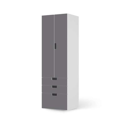 Klebefolie IKEA Stuva / Malad - 3 Schubladen und 2 grosse Türen - Grau Light- Bild 1