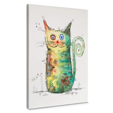 Leinwandbild Hagenmeyer - Crazy Cat
