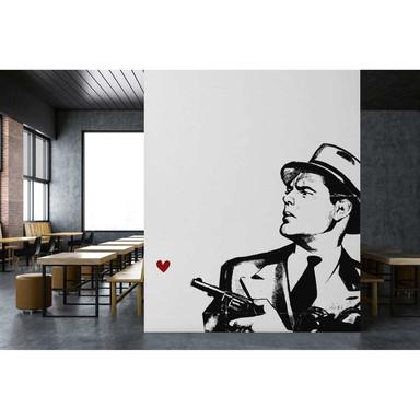 Livingwalls Fototapete ARTist Dont you dare! abstrakte Kunst rot, schwarz, weiss - Bild 1