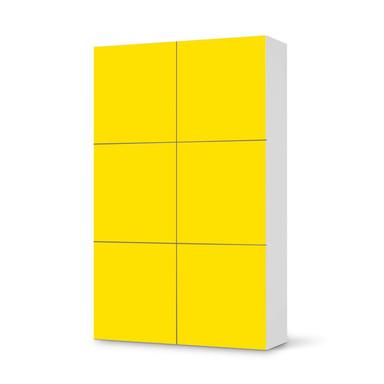 Möbel Klebefolie IKEA Besta Schrank 6 Türen (hoch) - Gelb Dark- Bild 1