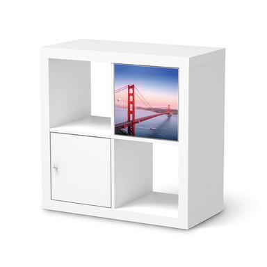 Möbelfolie IKEA Kallax Regal 1 Türe - Golden Gate