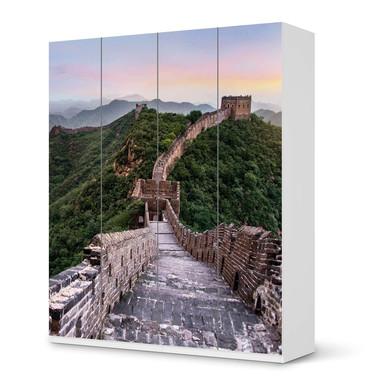 Möbelfolie IKEA Pax Schrank 236cm Höhe - 4 Türen - The Great Wall