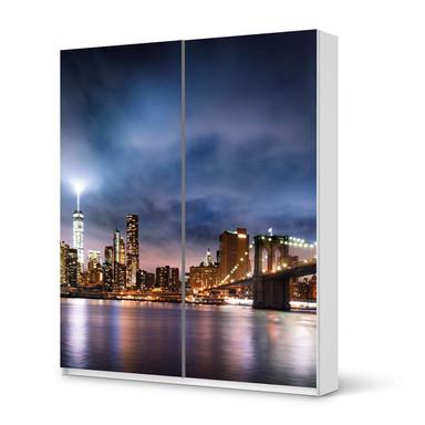 Möbelfolie IKEA Pax Schrank 236cm Höhe - Schiebetür - Brooklyn Bridge