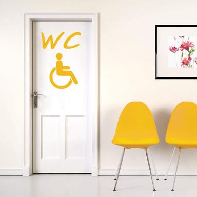 Wandtattoo Behinderten-WC