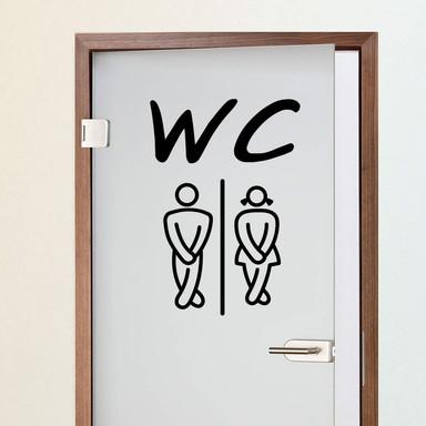 Wandtattoo WC