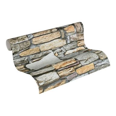 Vliestapete Premium Wall Tapete in Naturstein Optik braun, grau