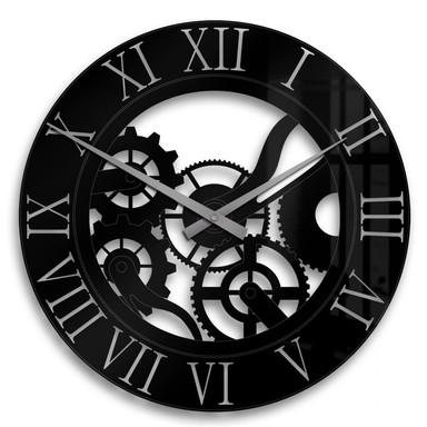 Acrylglasbild Uhrwerk Uhr