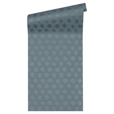 Architects Paper Vliestapete Alpha Ökotapete blau, metallic