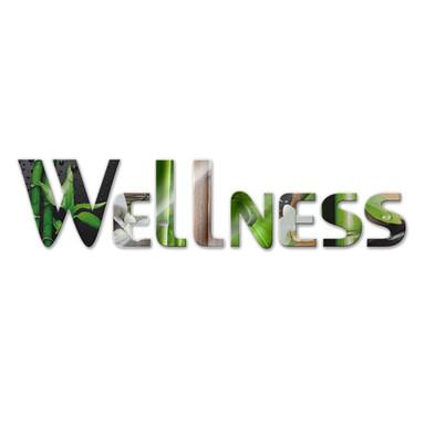 Dekobuchstaben Wellness