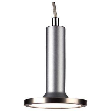 famlights | 1 Phasen LED Pendelleuchte Victor in Silber mit Leuchtmittel in Nickel