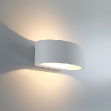 famlights   LED Wandleuchte Sharp Aluminium in Weiss