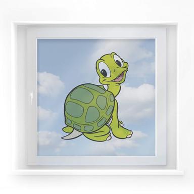 Fensterbild Benjamin Blümchen - Schildkröte Samuel