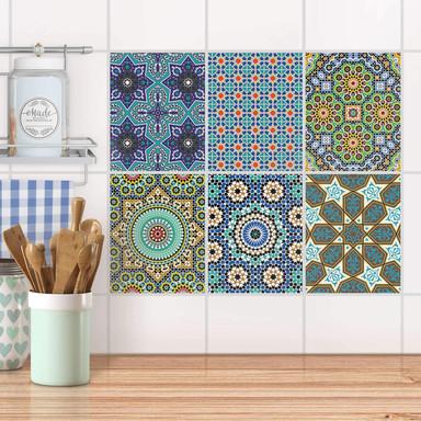 Fliesenaufkleber Set rechteckig - Orientalisches Mosaik