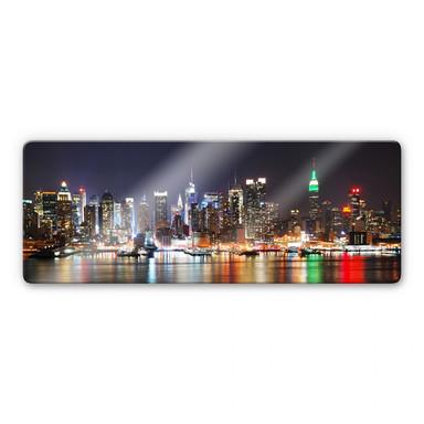 Glasbild New York Skyline - Panorama