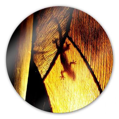 Glasbild Schattenspiel  - rund