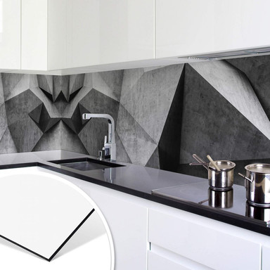 Küchenrückwand 3D Betonwand