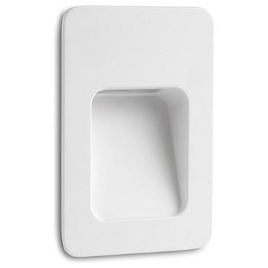 LED Wandeinbauleuchte Nase in Weiss 135x90mm