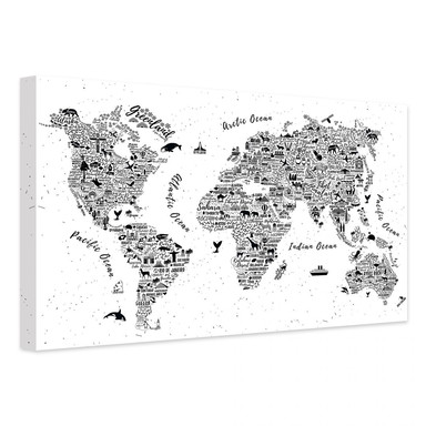 Leinwandbild Weltkarte - Arround the world