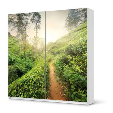 Möbel Klebefolie IKEA Pax Schrank 201cm Höhe - Schiebetür - Green Tea Fields