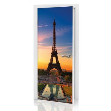 Türdeko Eiffelturm im Sonnenuntergang - Bild 1
