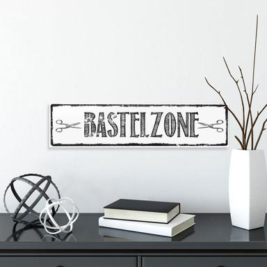 Hartschaum-Dekoschild Bastelzone