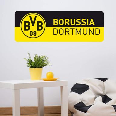 Wandsticker BVB Schriftzug Banner schwarz/gelb