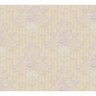 A.S. Création Papiertapete Concerto 3 Tapete mit floralen Ornamenten barock beige, metallic, rosa