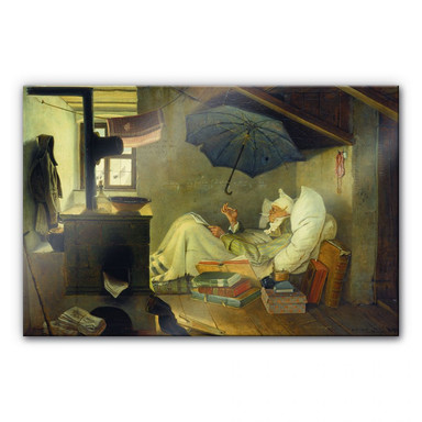 Acrylglasbild Spitzweg - Der arme Poet
