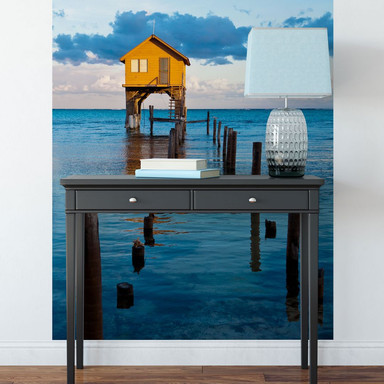 Fototapete Haus auf dem Meer - 144x260cm - Bild 1