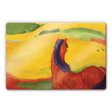 Glasbild Marc - Pferd in der Landschaft