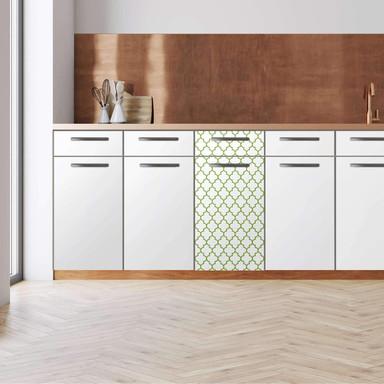 Küchenfolie - Unterschrank 40cm Breite - Retro Pattern - Grün