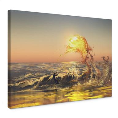 Leinwandbild aerroscape - Feuer Surfer