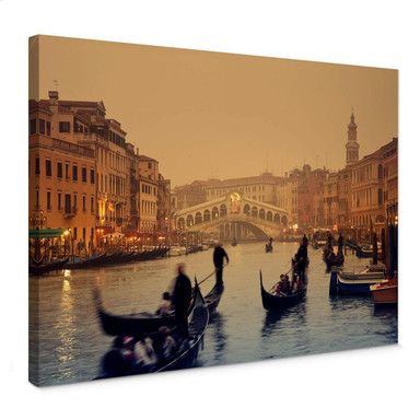 Leinwandbild Sunset in Venice
